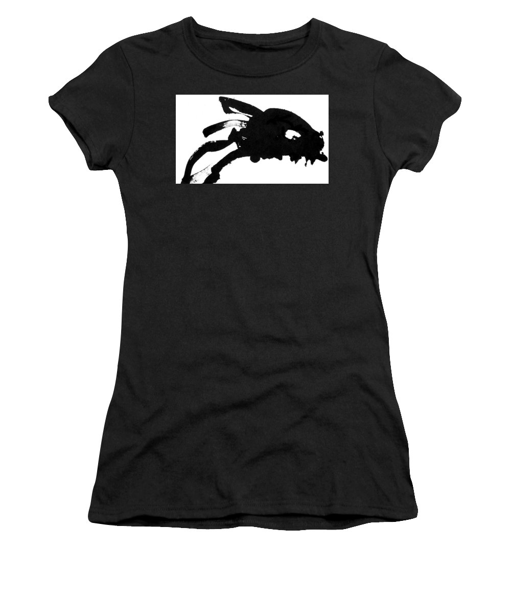 Sumi-e Women's T-Shirt (Athletic Fit) featuring the painting Koi by SJ Crown