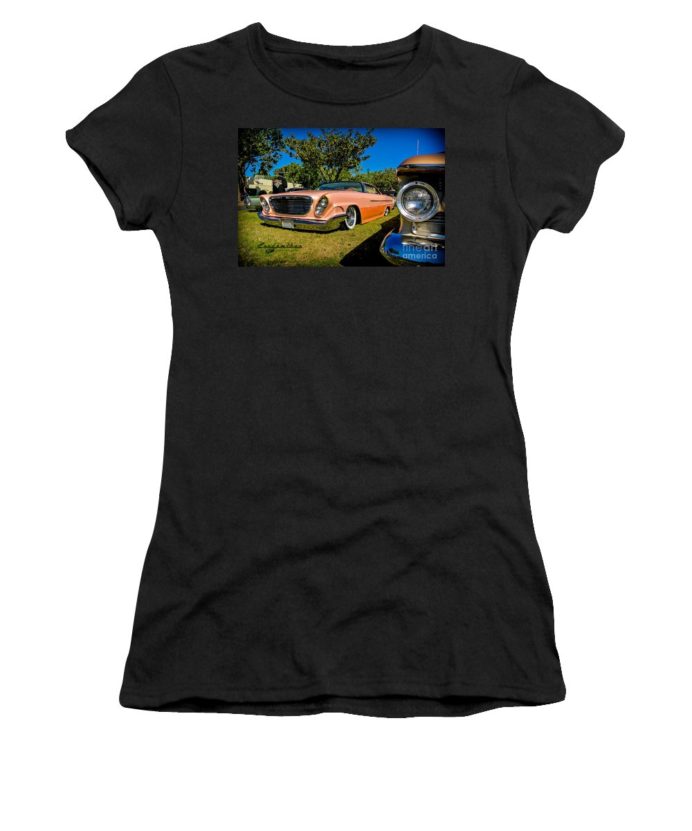 Customikes Women's T-Shirt featuring the photograph Kustoms by Customikes Fun Photography and Film Aka K Mikael Wallin