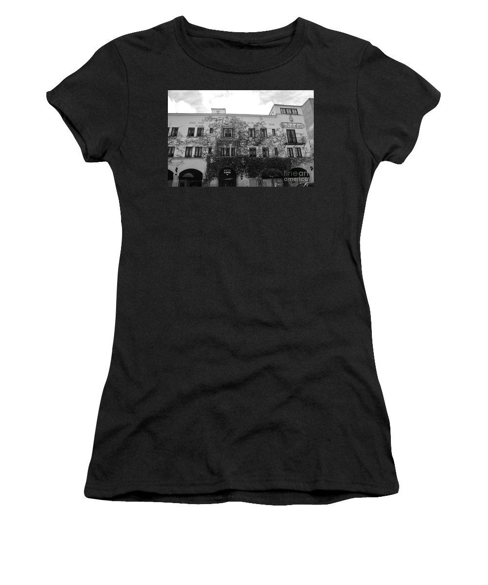 Hotel Michel Women's T-Shirt featuring the photograph L Michel by Keri West