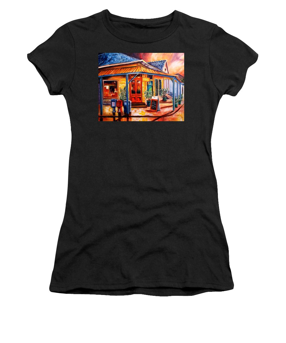 New Orleans Women's T-Shirt featuring the painting La Peniche In New Orleans by Diane Millsap