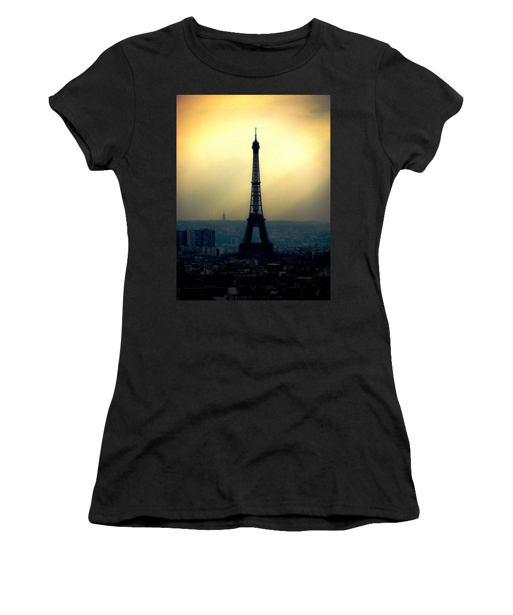 Paris Women's T-Shirt (Athletic Fit) featuring the photograph La Tour Eiffel by Lisa Chorny