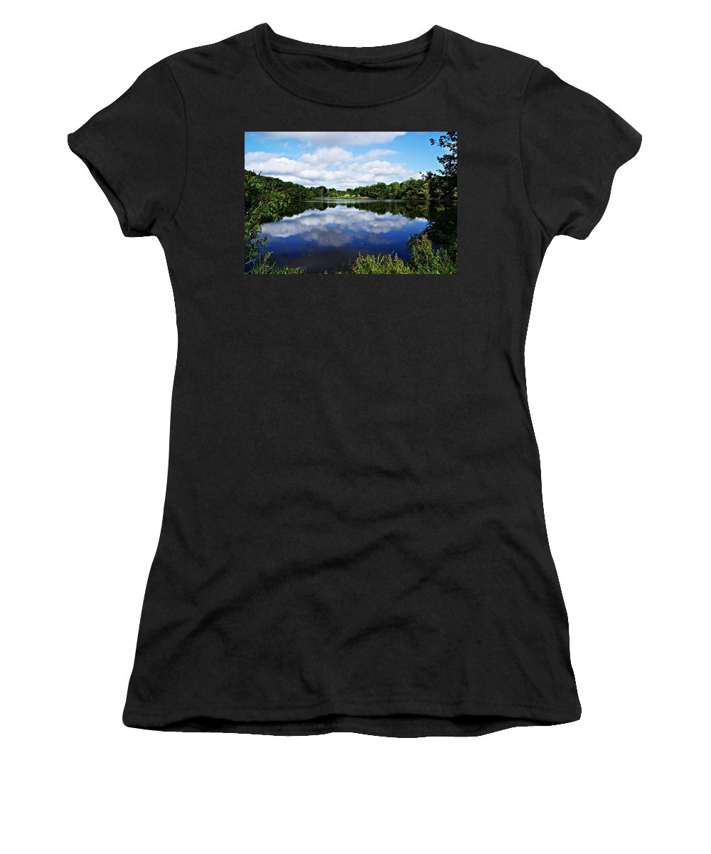 Lagoon Women's T-Shirt featuring the photograph Lagoon Iv by Joe Faherty
