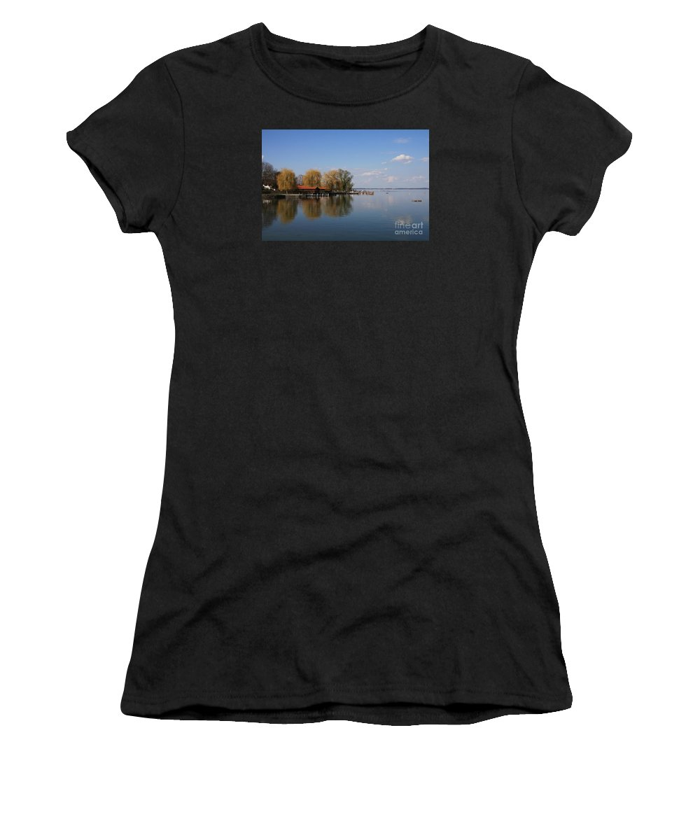 Lake Women's T-Shirt (Athletic Fit) featuring the photograph Lake Reflection by Christiane Schulze Art And Photography