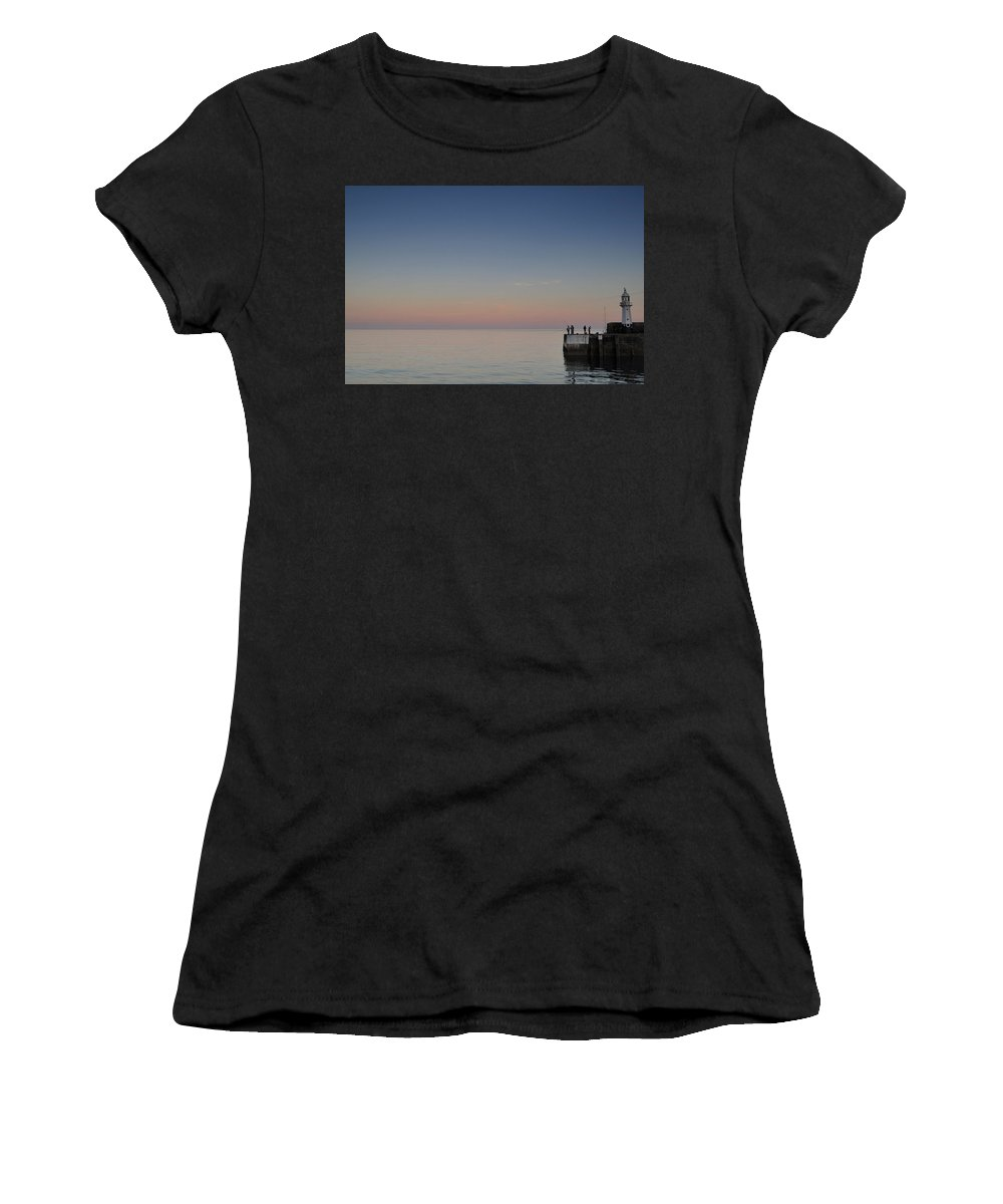 Mevagissey Women's T-Shirt featuring the photograph Late Catch by Mark Marlow