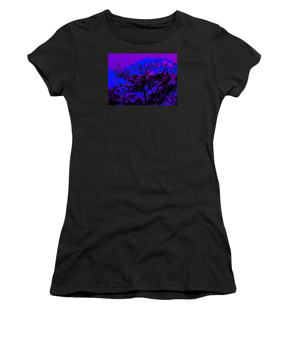 Landscape- Trees Women's T-Shirt (Athletic Fit) featuring the photograph Lavenda Amor by Theresa Cummings