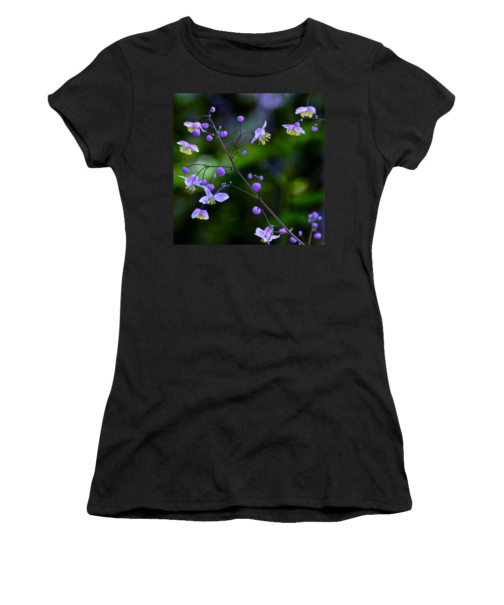 Lavender Mist Meadow Rue Women's T-Shirt featuring the photograph Lavender Mist Mobile by Byron Varvarigos