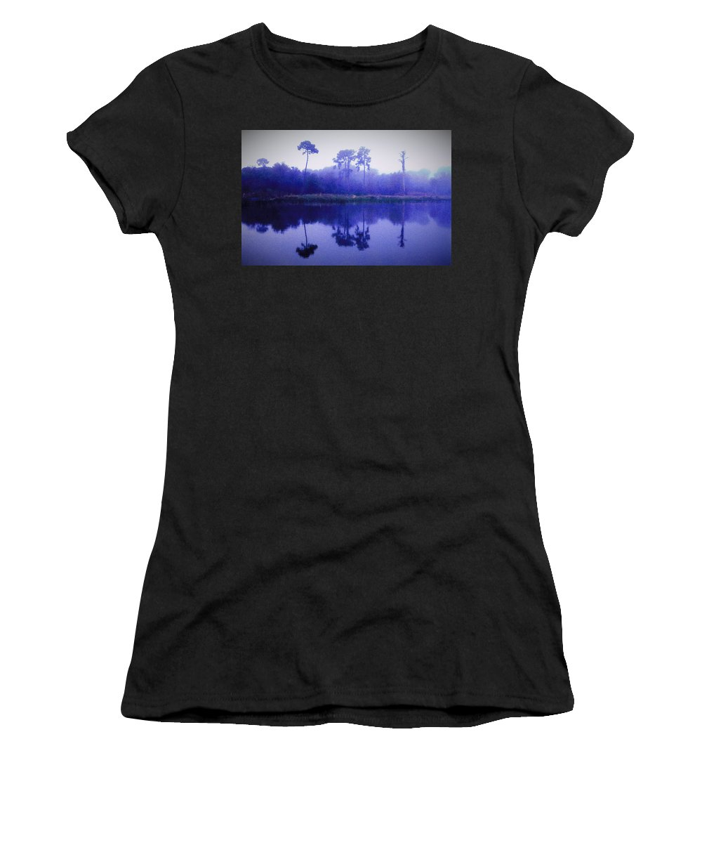 Color Women's T-Shirt (Athletic Fit) featuring the photograph Lavender Morning by Phil Penne