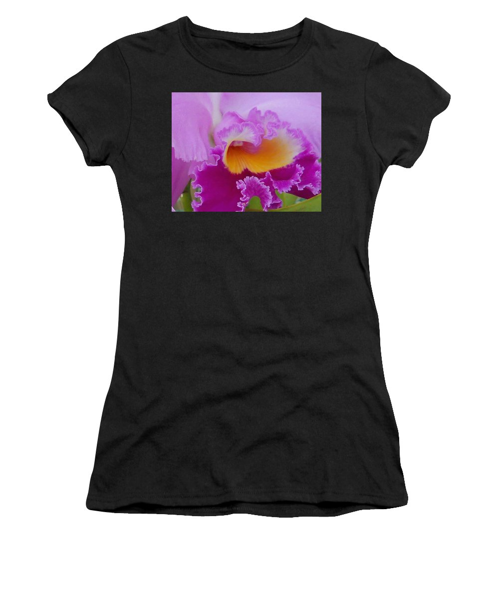 Orchid Women's T-Shirt (Athletic Fit) featuring the photograph Lavender Orchid by Aimee L Maher ALM GALLERY