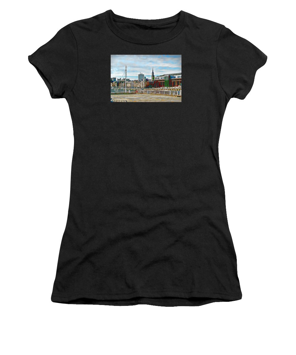 Law Court Women's T-Shirt featuring the photograph Law Courts Newcastle Upon Tyne by John Lynch