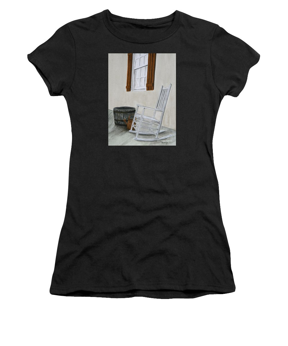 Americana Women's T-Shirt featuring the painting Lazy Day by Regan J Smith
