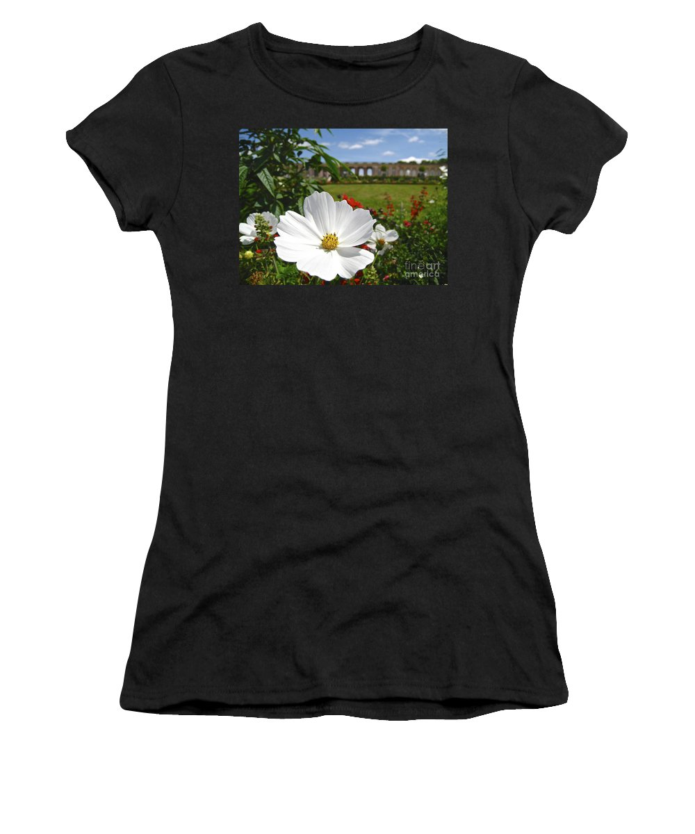 France Paris Versailles Women's T-Shirt featuring the photograph Le Fleur De Versailles by Suzanne Oesterling