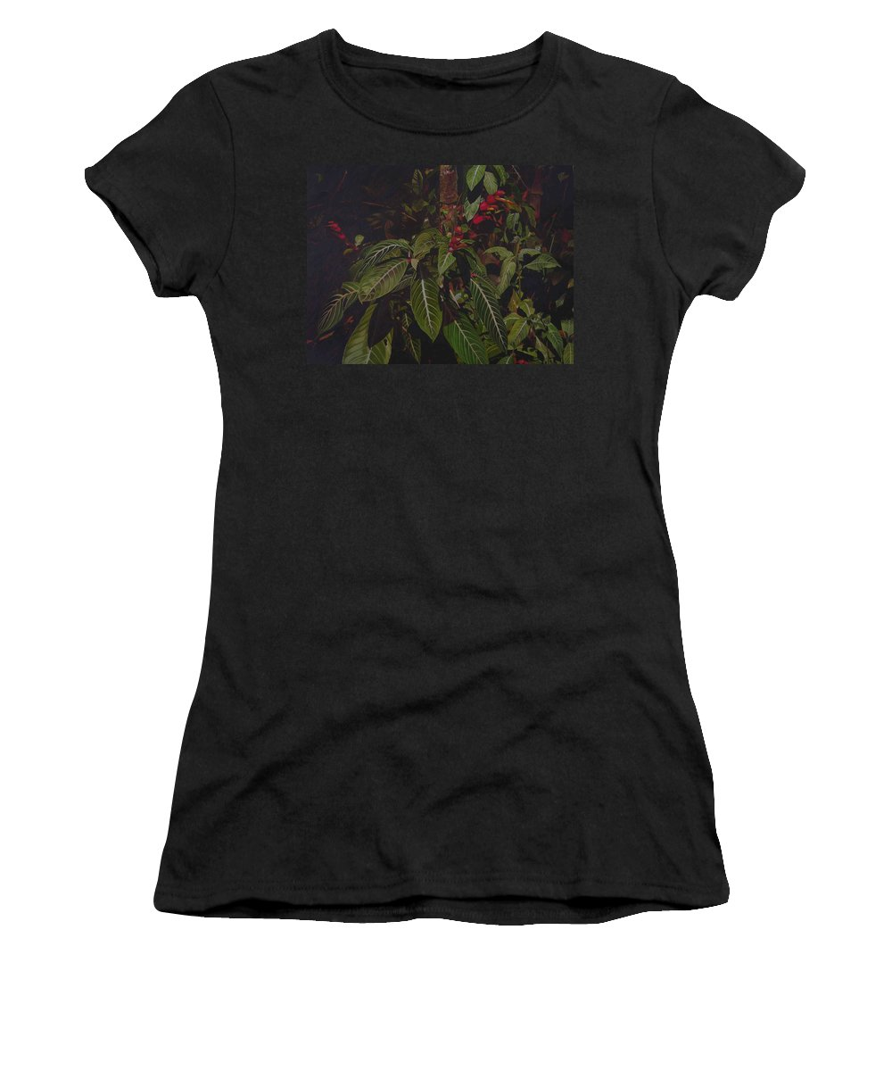 Leaves Women's T-Shirt (Athletic Fit) featuring the painting Leaving Monroe by Thu Nguyen