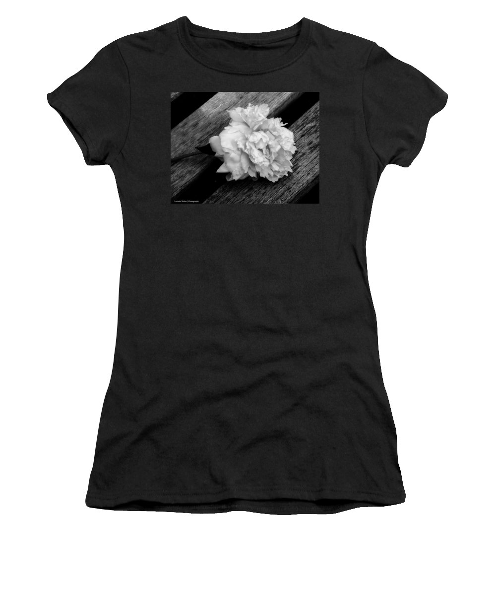 Peony Women's T-Shirt featuring the photograph Left Behind by Lucinda Walter