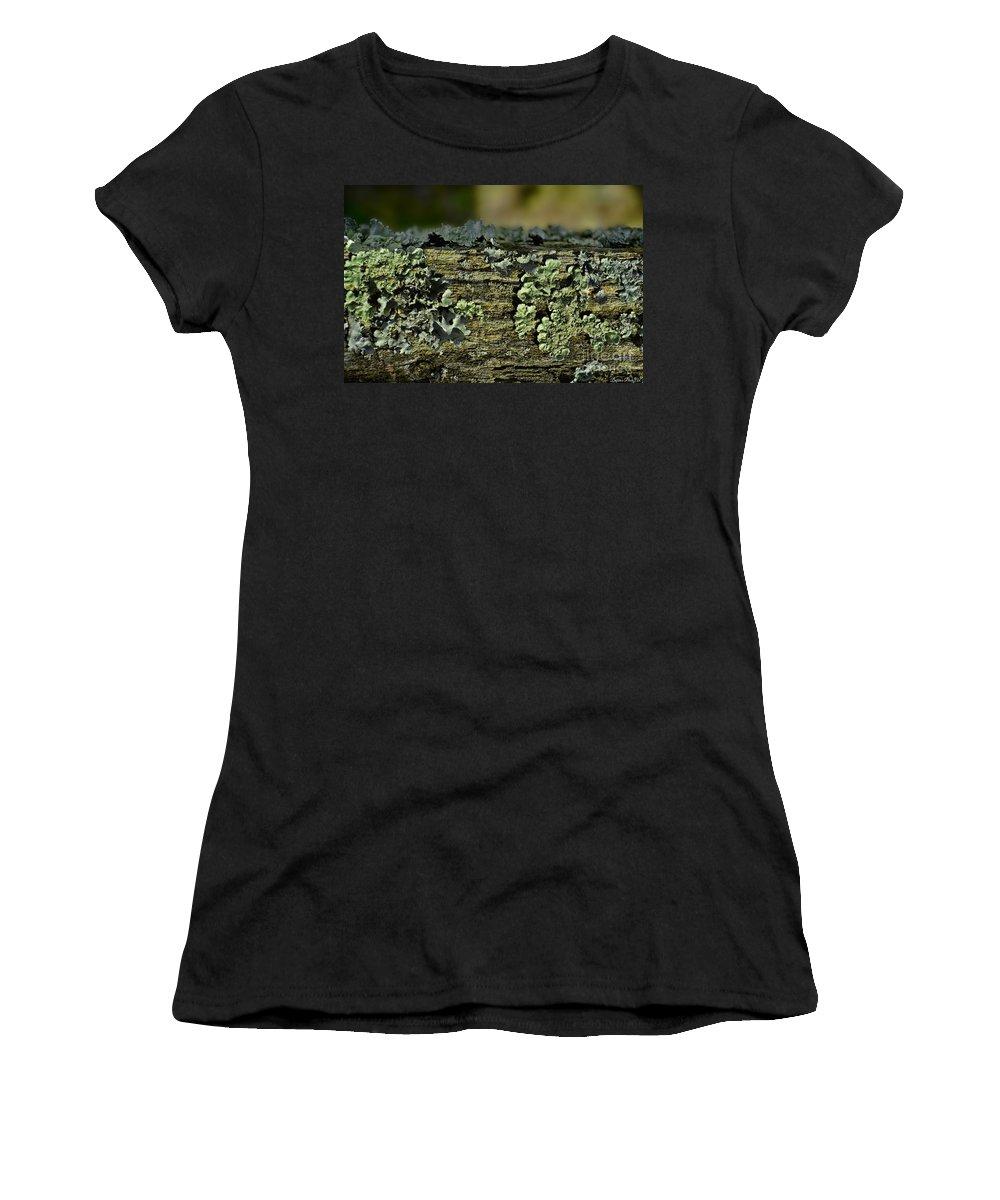 Closeup Women's T-Shirt featuring the photograph Lichen Macro I by Debbie Portwood