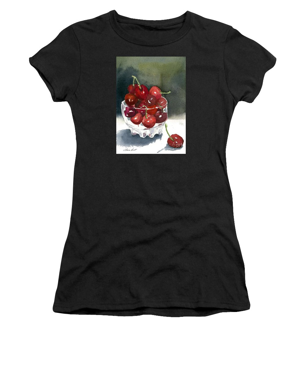 Still Life Women's T-Shirt featuring the painting Such A Cheery Note by Maria Hunt