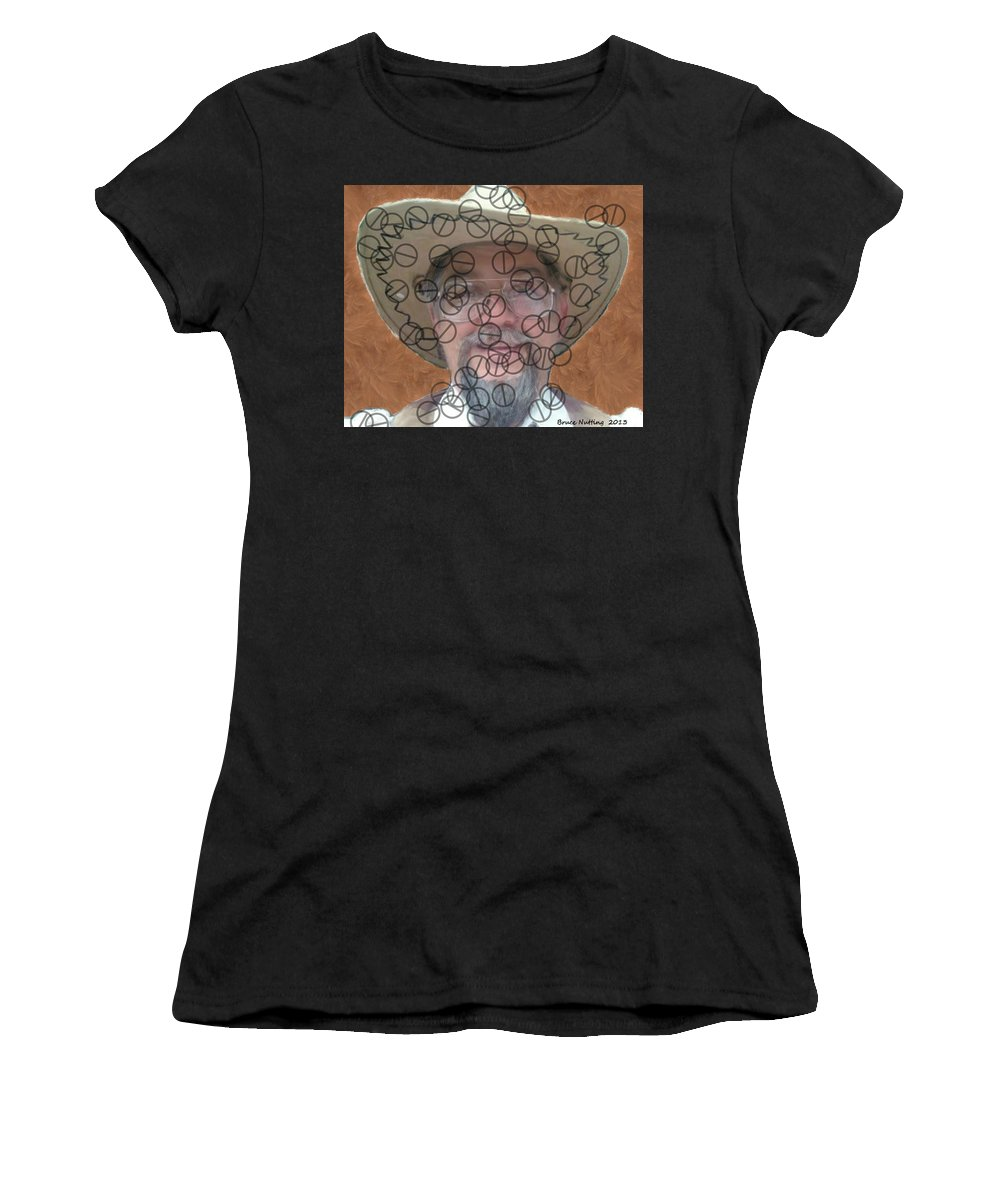 Me Women's T-Shirt (Athletic Fit) featuring the painting Life Puts Up Road Blocks by Bruce Nutting