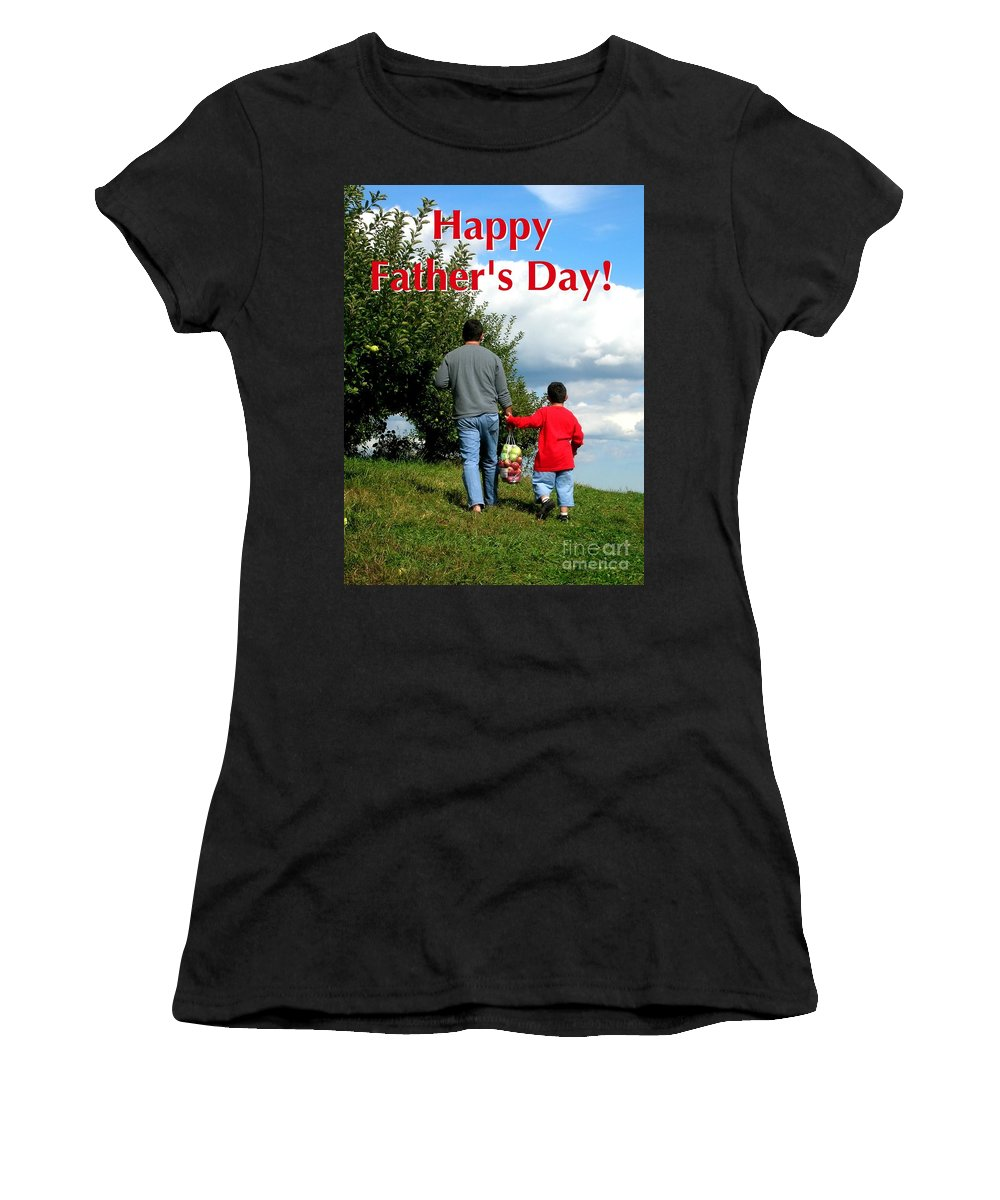Greeting Card Women's T-Shirt featuring the digital art Life's Simple Pleasure by Christine Fournier