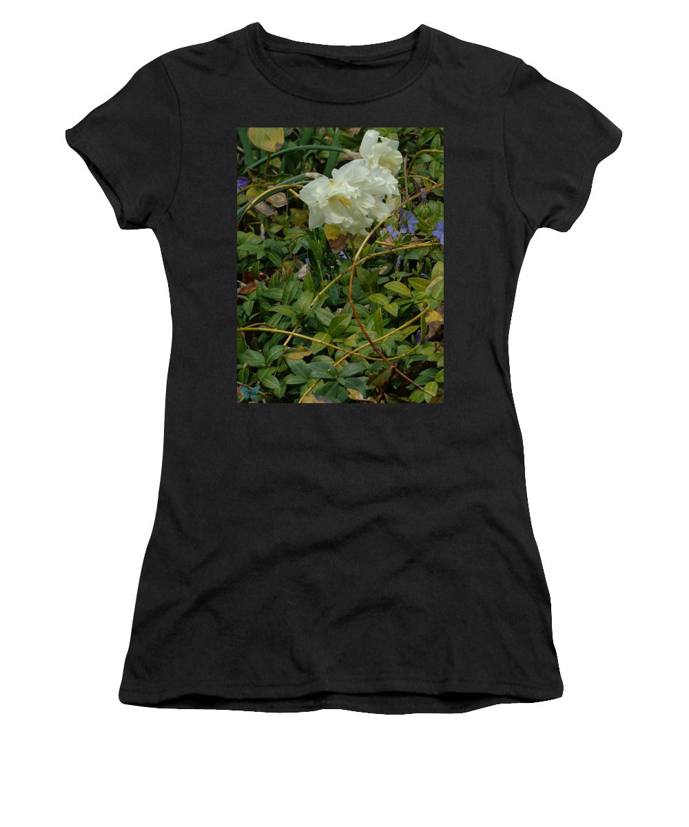 Flowers Women's T-Shirt (Athletic Fit) featuring the photograph Light Daffodils by Jannice Walker