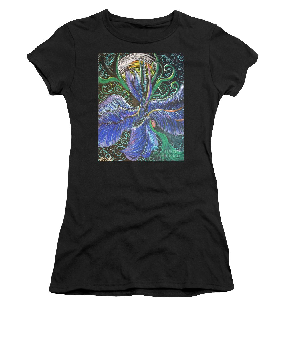Impressionism Women's T-Shirt featuring the painting Light Into The Bloom by Stefan Duncan