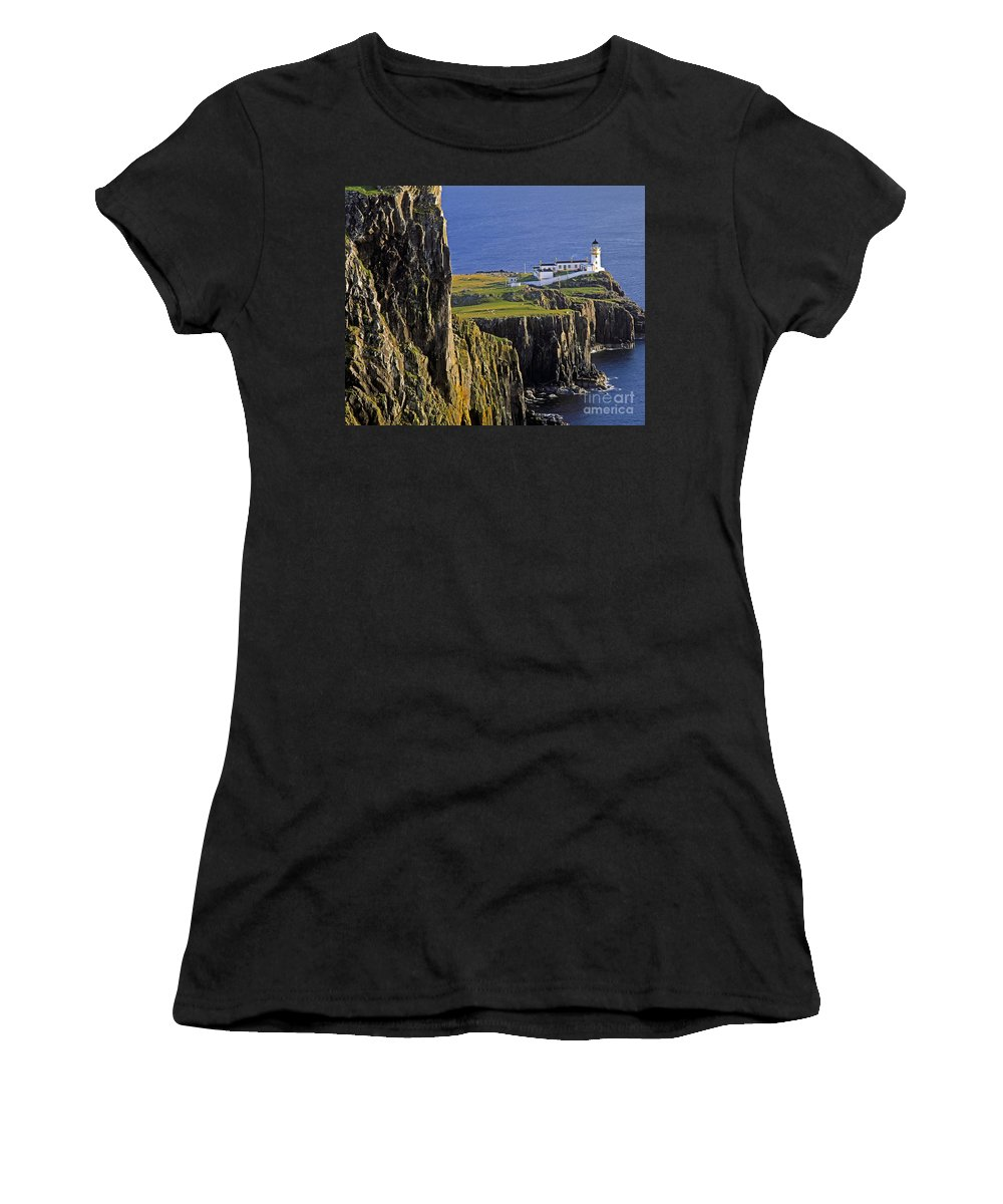 Europe Women's T-Shirt (Athletic Fit) featuring the photograph Light On The Rock by Edmund Nagele