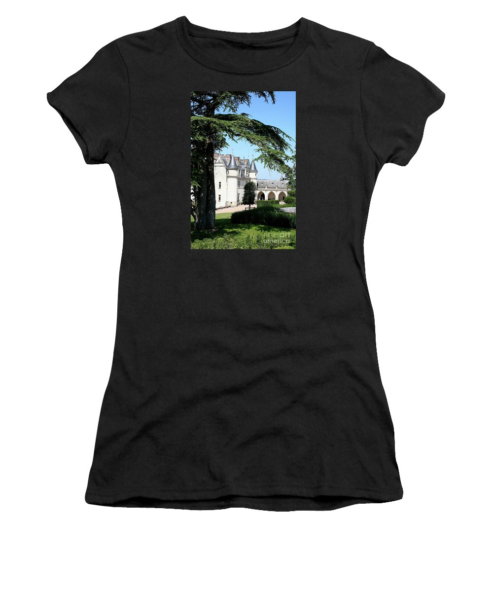 Castle Women's T-Shirt (Athletic Fit) featuring the photograph Like A Fairytale - Chateau Amboise by Christiane Schulze Art And Photography