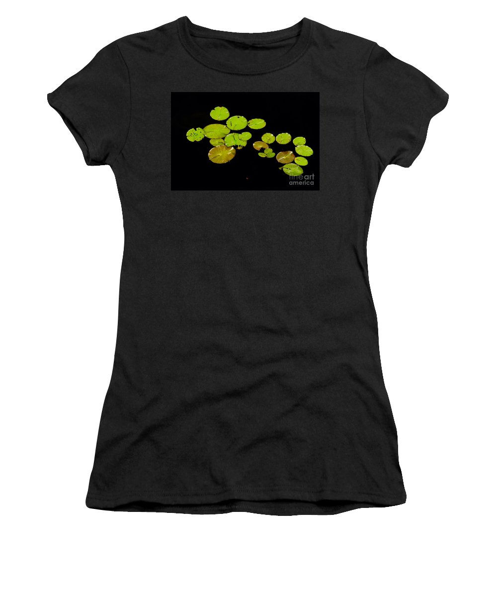 Water Women's T-Shirt featuring the photograph Lily Pads by Les Palenik