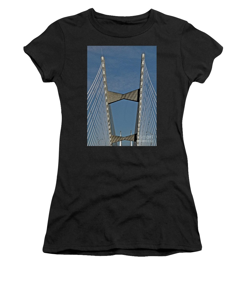 Bridge Women's T-Shirt (Athletic Fit) featuring the photograph Line Design by Lydia Holly
