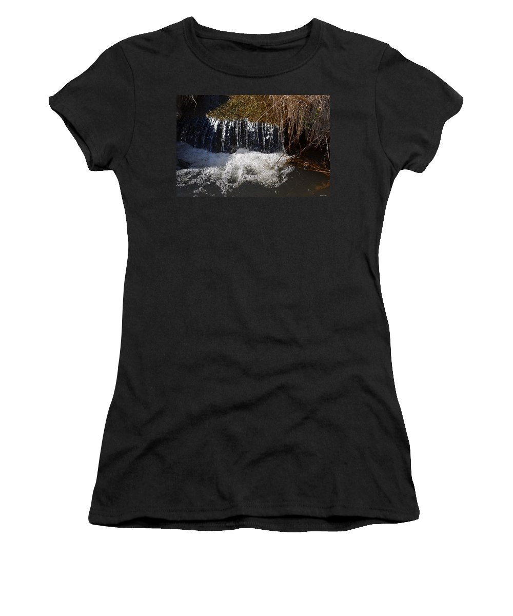 Liquid Bubbles Women's T-Shirt featuring the photograph Liquid Bubbles by Maria Urso