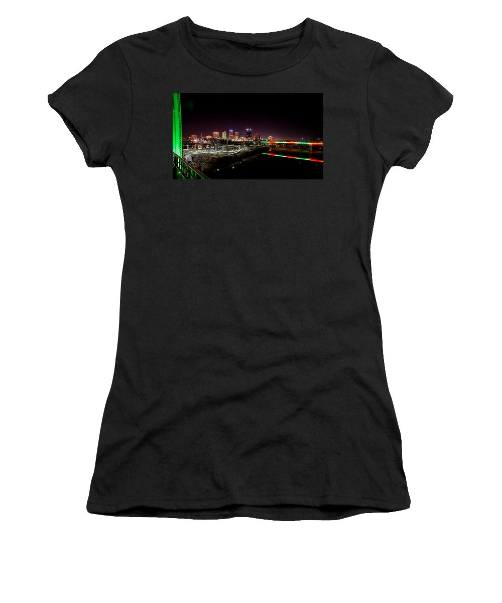 Little Rock Women's T-Shirt (Athletic Fit) featuring the photograph Little Rock by David Downs