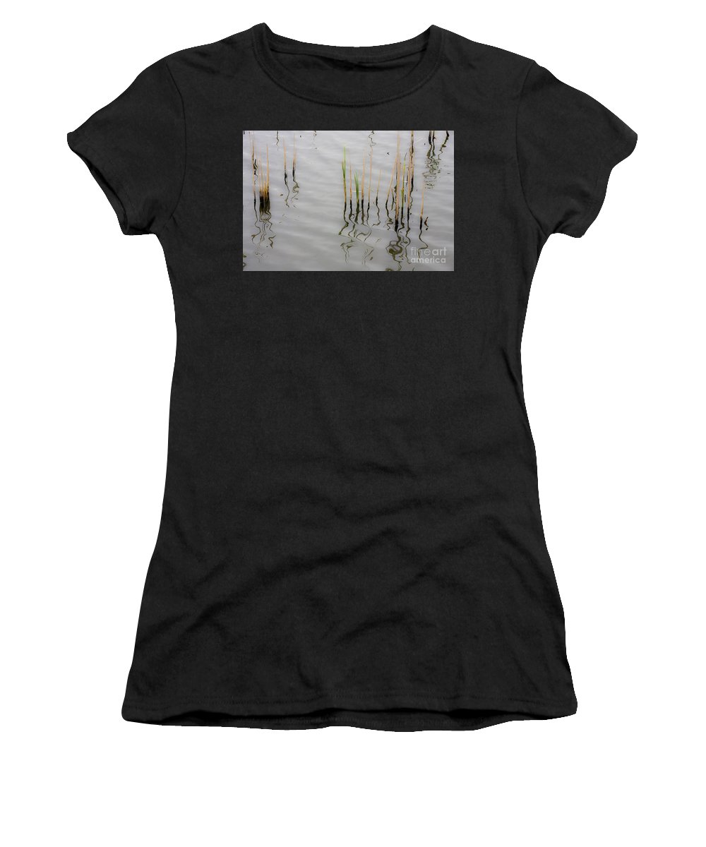 Water Women's T-Shirt featuring the photograph Little Waves by Heiko Koehrer-Wagner
