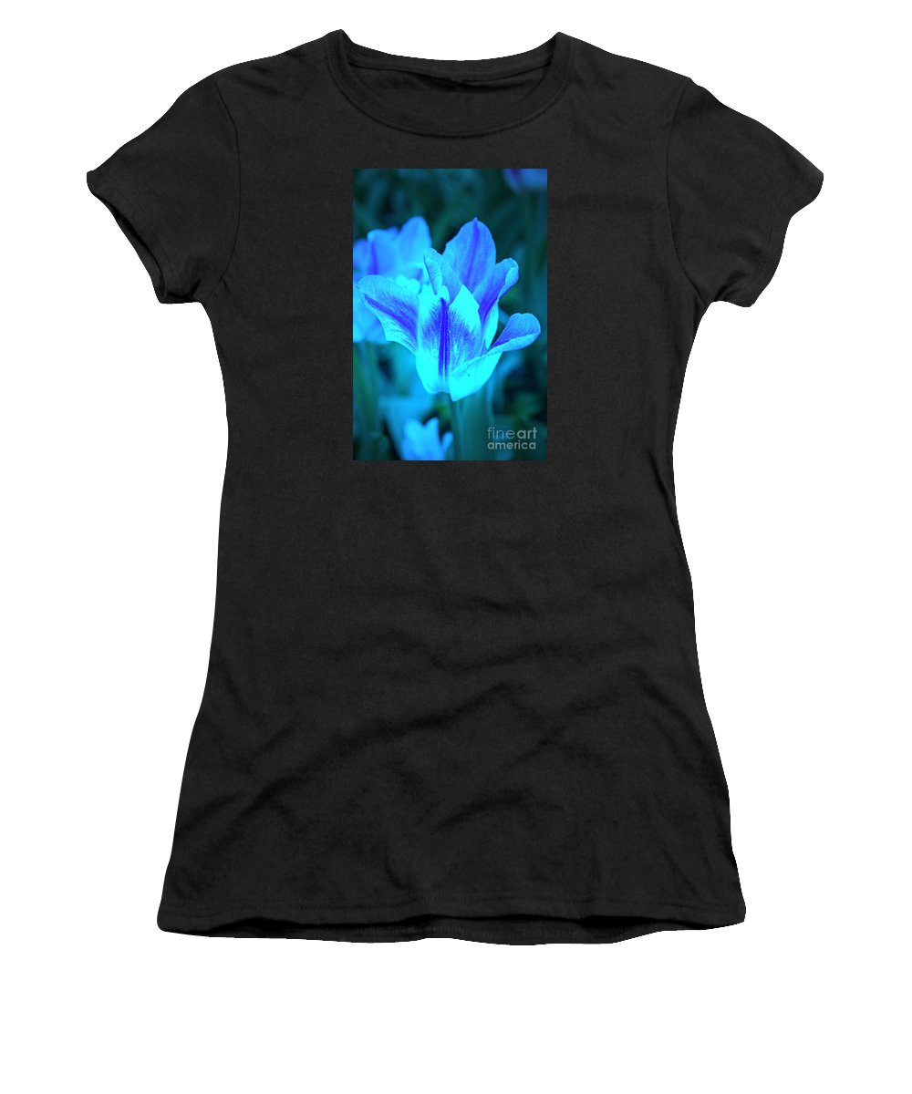 Tulip Women's T-Shirt (Athletic Fit) featuring the photograph Living Glow by Lali Kacharava