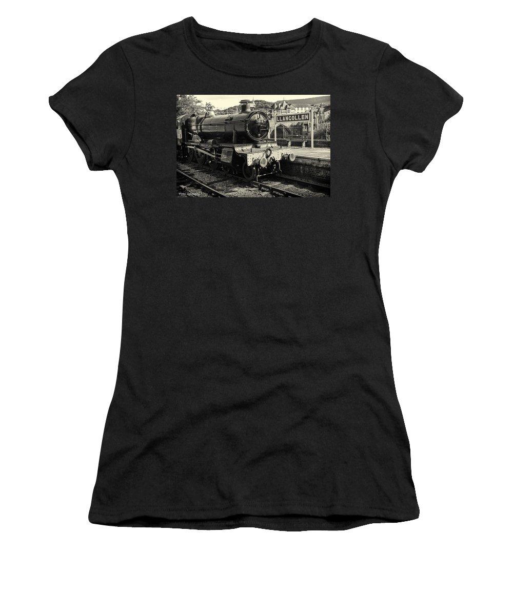 Wales Women's T-Shirt featuring the photograph Llangollen Railway by Fran Gallogly