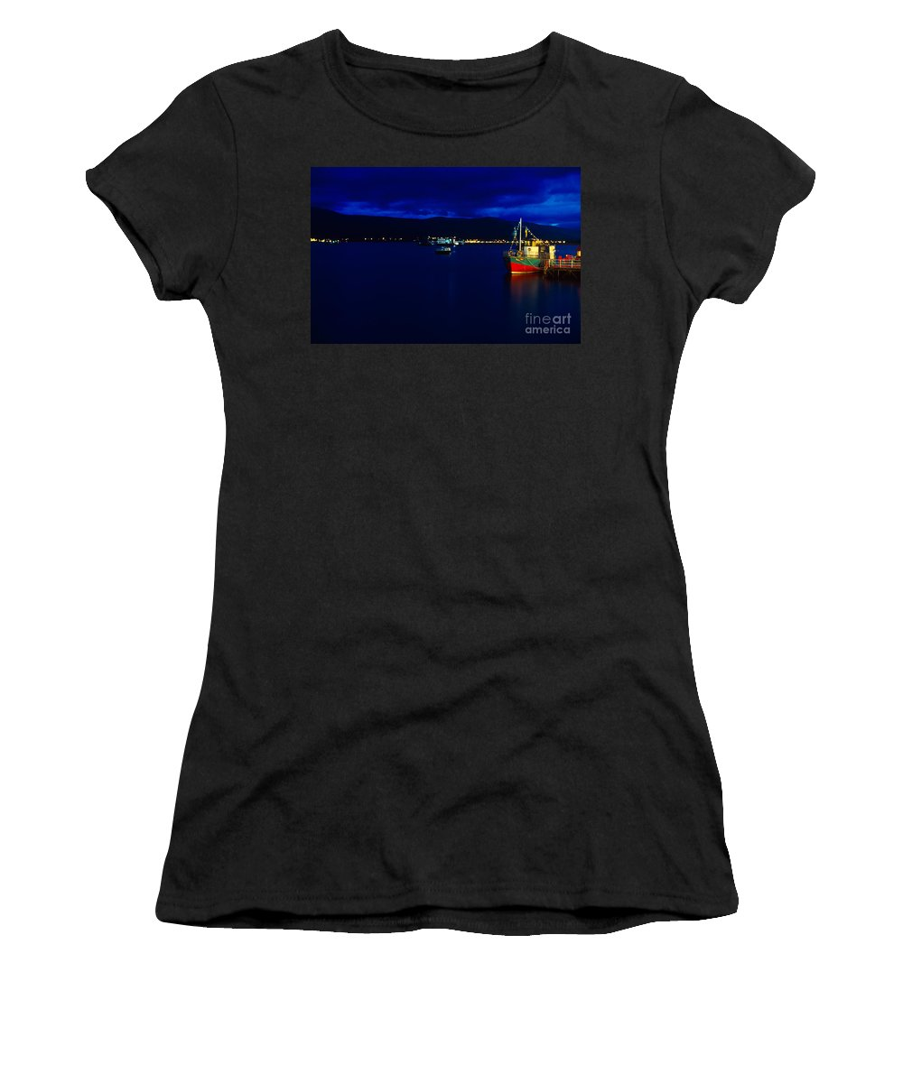 Fort Women's T-Shirt featuring the photograph Loch Linnhe By Night by Riccardo Mottola