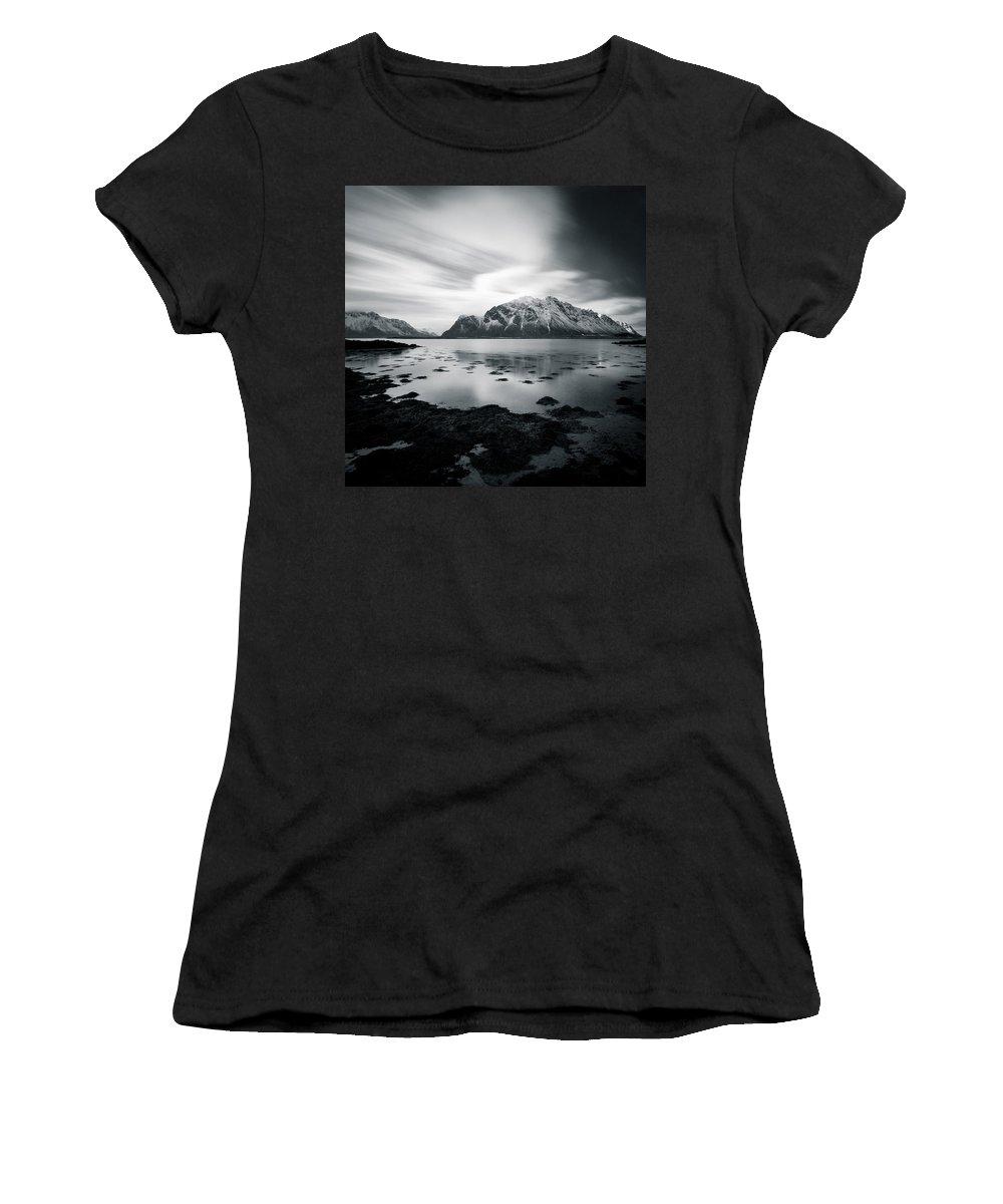 Lofoten Islands Women's T-Shirt (Athletic Fit) featuring the photograph Lofoten Beauty by Dave Bowman
