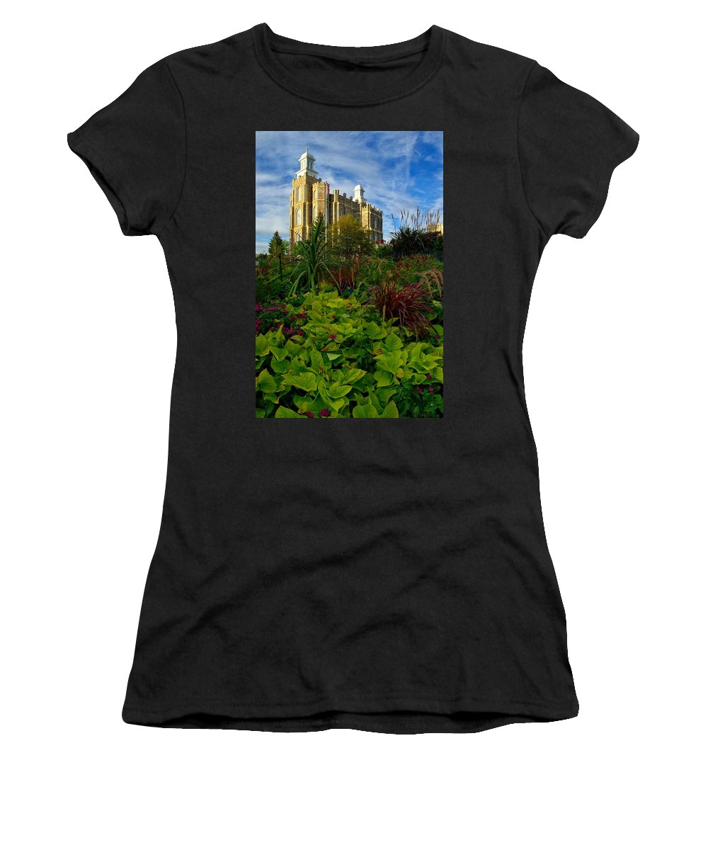 Logan Temple Women's T-Shirt (Athletic Fit) featuring the photograph Logan Temple by David Andersen