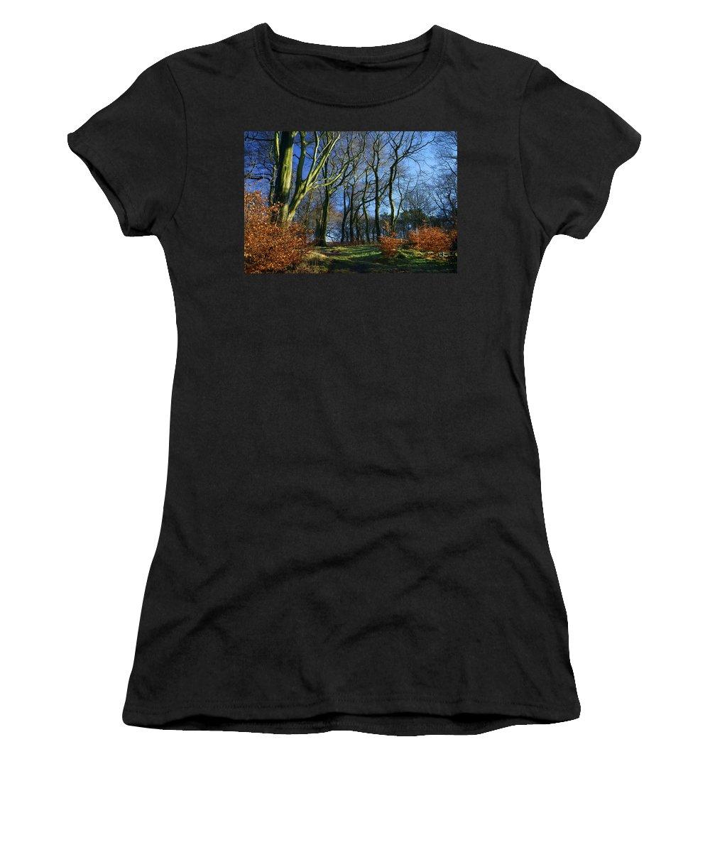 Landscape Women's T-Shirt featuring the photograph Longshaw Woods by Darren Galpin