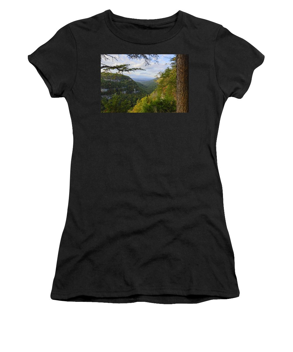 Autumn Women's T-Shirt featuring the photograph Looking Down The Canyon by Steve Samples