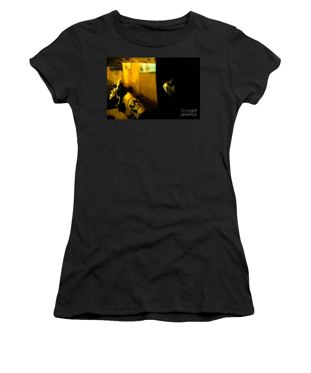 Goldfish Women's T-Shirt (Athletic Fit) featuring the photograph Looking Out by Silvia Ganora
