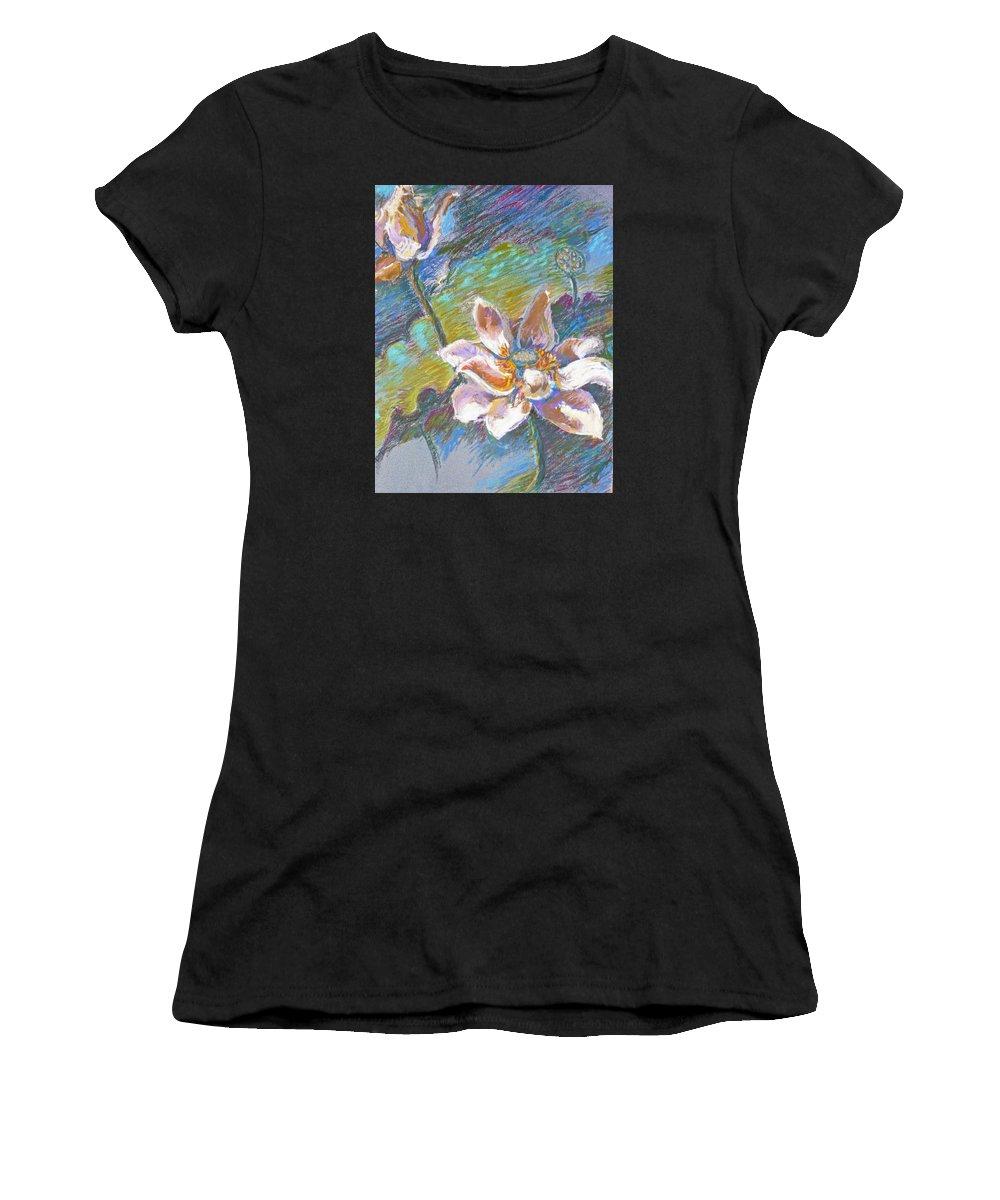 Lotus Women's T-Shirt featuring the pastel Lotus by Ellen Dreibelbis