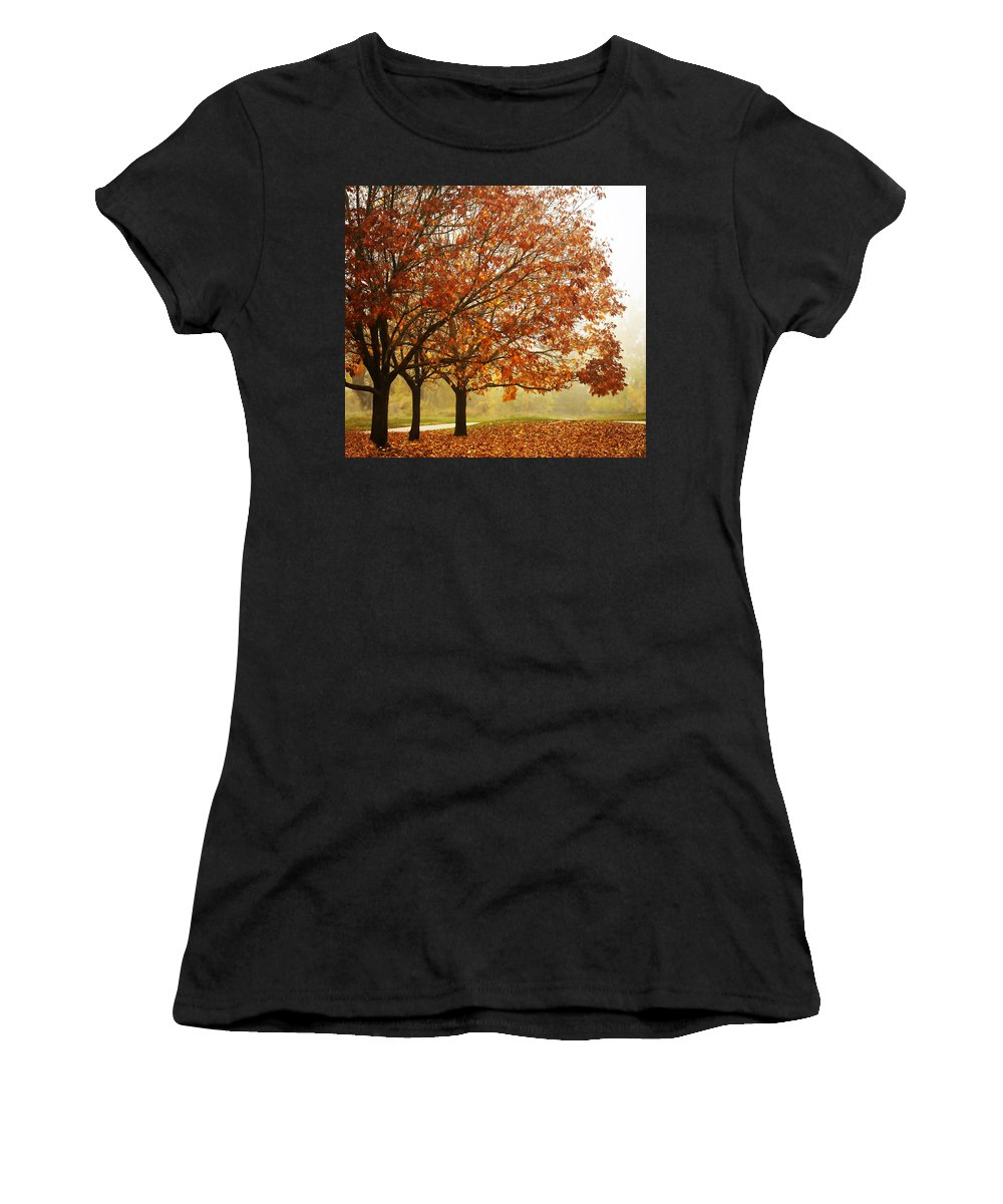 Louisville Women's T-Shirt (Athletic Fit) featuring the photograph Louisville Fall 1 by Marilyn Hunt