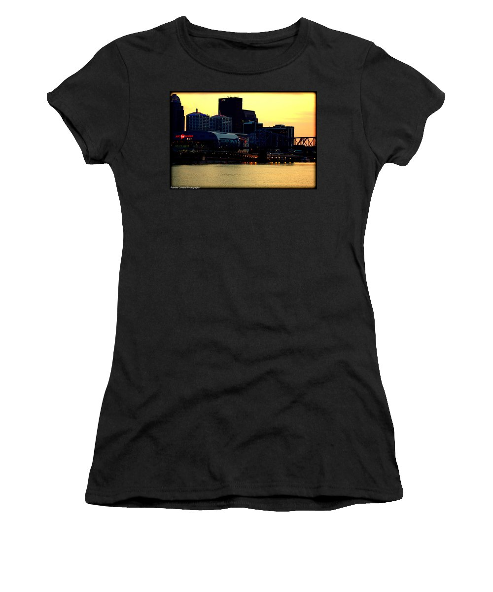 Boat Women's T-Shirt (Athletic Fit) featuring the photograph Louisville Lights by Daniel Jakus