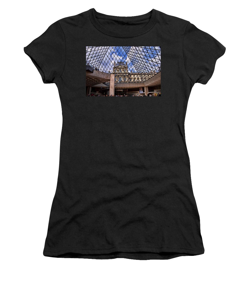 France Women's T-Shirt (Athletic Fit) featuring the photograph Louvre Museum Paris France by Jon Berghoff