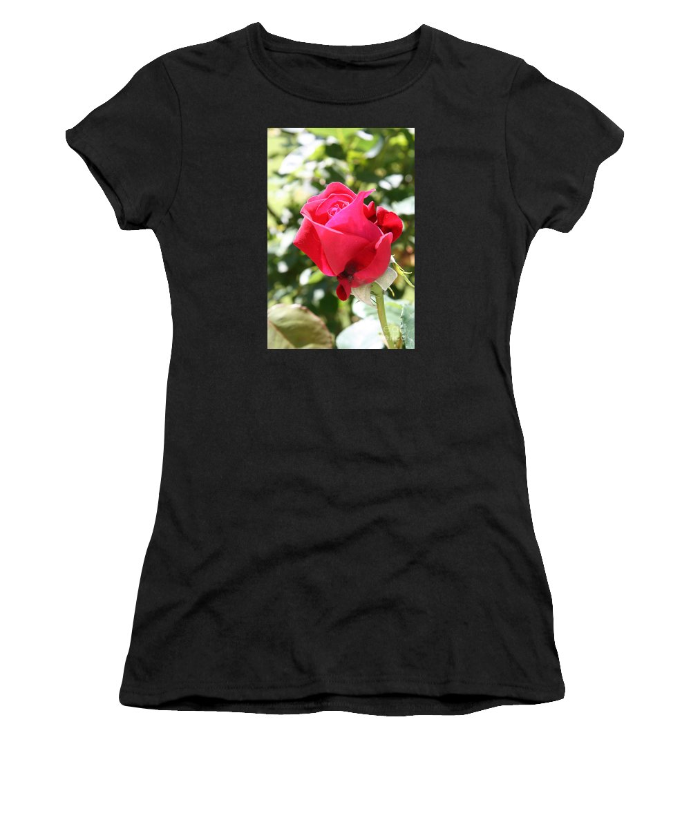 Rose Women's T-Shirt (Athletic Fit) featuring the photograph Love In Red by Christiane Schulze Art And Photography