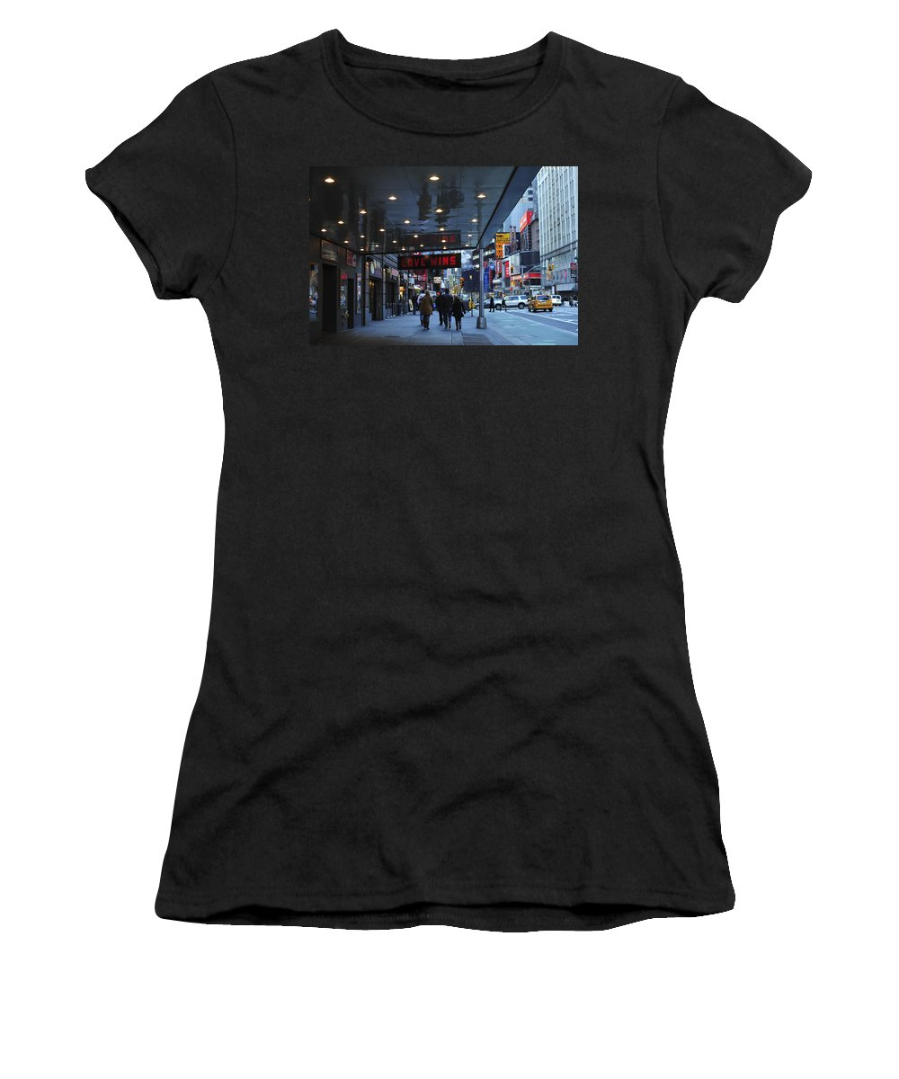 Love Wins Nyc Women's T-Shirt (Athletic Fit) featuring the photograph Love Wins Nyc by Terry DeLuco