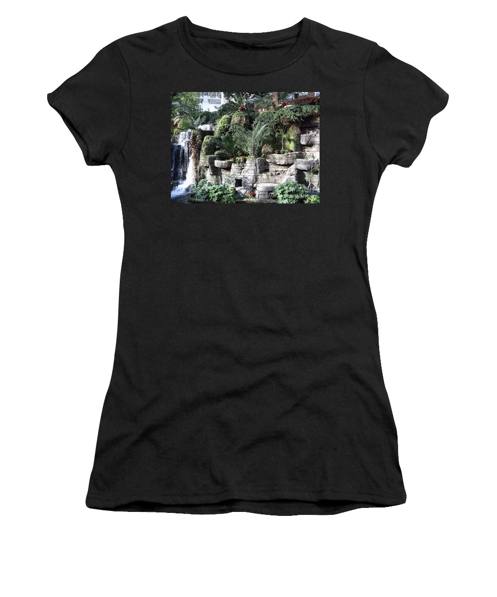 Opryland Hotel Women's T-Shirt (Athletic Fit) featuring the photograph Lovely View Inside The Opryland Hotel In Nashville Tennessee 2009 by Marian Bell