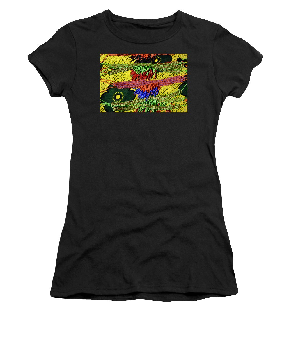 Africa Women's T-Shirt (Athletic Fit) featuring the photograph Maasai Beadwork by Michele Burgess