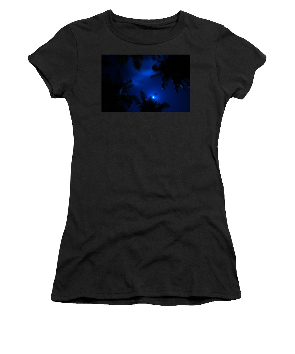 Maldives Women's T-Shirt (Athletic Fit) featuring the photograph Magic Of The Night Sky 1 by Jenny Rainbow