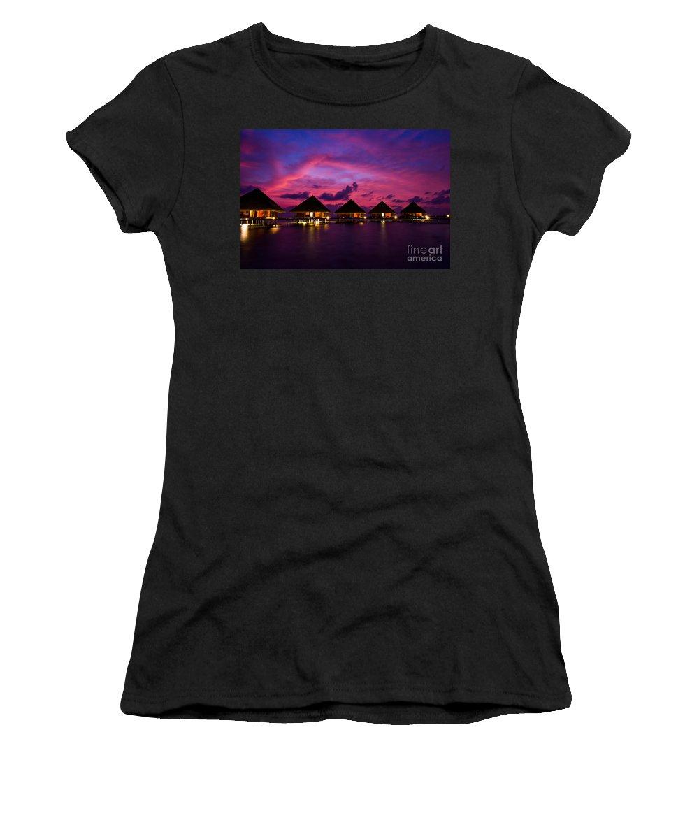 Beach Women's T-Shirt featuring the photograph Magical Sunset by Hannes Cmarits