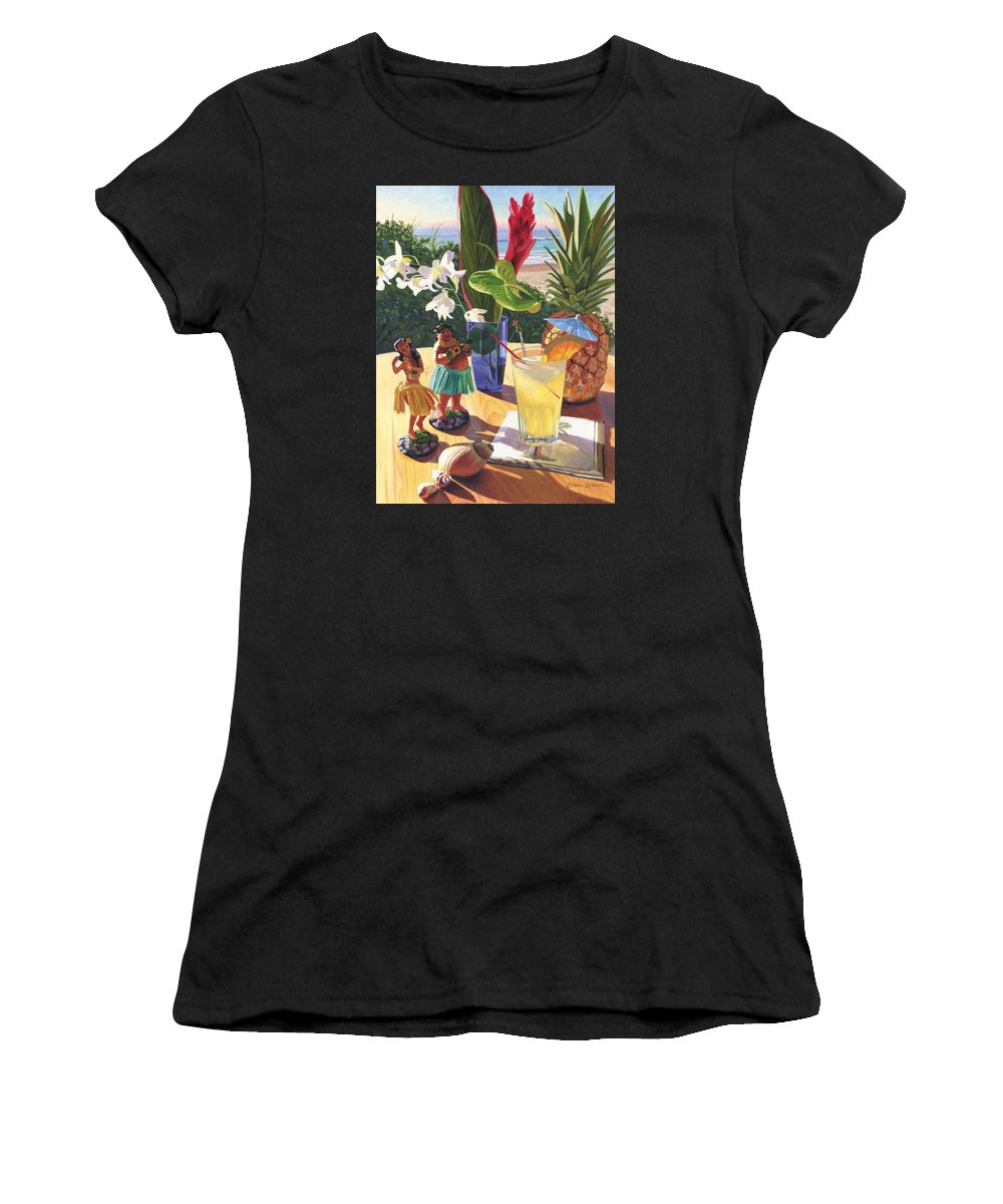 Mai Tai Women's T-Shirt (Athletic Fit) featuring the painting Mai Tai by Steve Simon