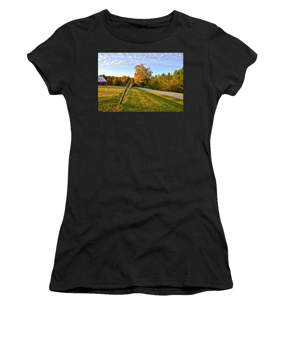Maine Women's T-Shirt featuring the photograph Maine Morning by Andrea Platt